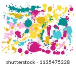 paint stains grunge background... | Shutterstock .eps vector #1135475228