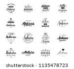 ankara. greeting cards  vector... | Shutterstock .eps vector #1135478723