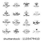 las vegas. greeting cards ...   Shutterstock .eps vector #1135479410