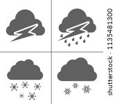 weather icons for weather... | Shutterstock .eps vector #1135481300