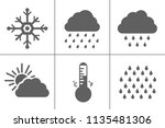 weather icons for weather... | Shutterstock .eps vector #1135481306
