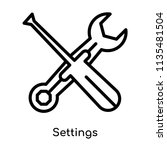 settings icon vector isolated... | Shutterstock .eps vector #1135481504
