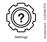 settings icon vector isolated... | Shutterstock .eps vector #1135481570