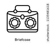 briefcase icon vector isolated...   Shutterstock .eps vector #1135481618