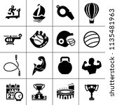sports icons set   play game... | Shutterstock .eps vector #1135481963
