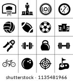 sports icons set   play game... | Shutterstock .eps vector #1135481966