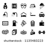 vector travel icons  vacation... | Shutterstock .eps vector #1135483223