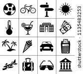 vector travel icons  vacation... | Shutterstock .eps vector #1135483253