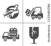 vector delivery icons set.... | Shutterstock .eps vector #1135483286