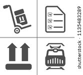 vector delivery icons set.... | Shutterstock .eps vector #1135483289