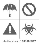 security icons  vector... | Shutterstock .eps vector #1135483319