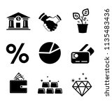 investment icons  business... | Shutterstock .eps vector #1135483436