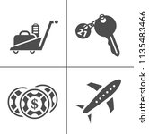 vector travel icons  vacation... | Shutterstock .eps vector #1135483466