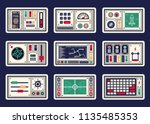 different control panels ... | Shutterstock .eps vector #1135485353