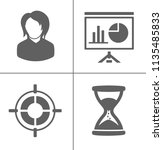 vector business office icons... | Shutterstock .eps vector #1135485833