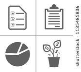 vector business office icons... | Shutterstock .eps vector #1135485836