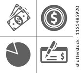 bank and finance icons set ... | Shutterstock .eps vector #1135485920