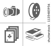 vector entertainment icons set  ... | Shutterstock .eps vector #1135485956