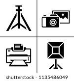 vector photography icons set  ... | Shutterstock .eps vector #1135486049