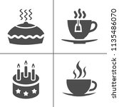 cafe and confectionery icon set.... | Shutterstock .eps vector #1135486070