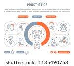 line banner of prosthetics.... | Shutterstock .eps vector #1135490753