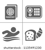 hotel icons   traveling ... | Shutterstock .eps vector #1135491230