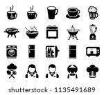 food and beverage icons ... | Shutterstock .eps vector #1135491689