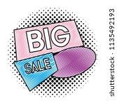 doodle offer big sale price tag | Shutterstock .eps vector #1135492193