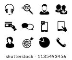 vector communication icons  ... | Shutterstock .eps vector #1135493456