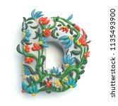 3d rendering of plasticine... | Shutterstock . vector #1135493900