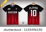 soccer jersey and t shirt sport ... | Shutterstock .eps vector #1135496150