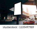 billboard blank for outdoor...   Shutterstock . vector #1135497989