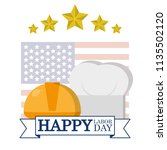 happy labor day card | Shutterstock .eps vector #1135502120