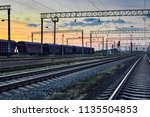 railcar for dry cargo during... | Shutterstock . vector #1135504853