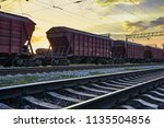 railcar for dry cargo during... | Shutterstock . vector #1135504856