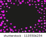 heart border background with... | Shutterstock .eps vector #1135506254