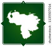 simple outline map of venezuela ... | Shutterstock .eps vector #1135507016
