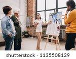 full length portrait of pretty... | Shutterstock . vector #1135508129