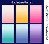 screen gradient set with modern ... | Shutterstock .eps vector #1135508900