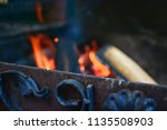 forget brazier with wood and... | Shutterstock . vector #1135508903