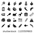 food and beverage icons ... | Shutterstock .eps vector #1135509803