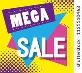 mega sale discounts poster... | Shutterstock .eps vector #1135510463