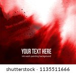 background with red blood... | Shutterstock .eps vector #1135511666