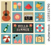 vector objects clip art summer... | Shutterstock .eps vector #1135513790