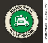 electric vehicle emblem... | Shutterstock .eps vector #1135513799