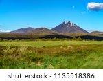 beautiful cone volcano mount...   Shutterstock . vector #1135518386