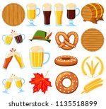 colorful cartoon 18 oktoberfest ... | Shutterstock .eps vector #1135518899
