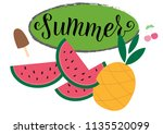 summer season vocation  weekend ... | Shutterstock .eps vector #1135520099
