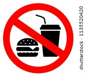 no eating vector sign isolated... | Shutterstock .eps vector #1135520420
