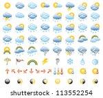 meteorology icons set  vector... | Shutterstock .eps vector #113552254
